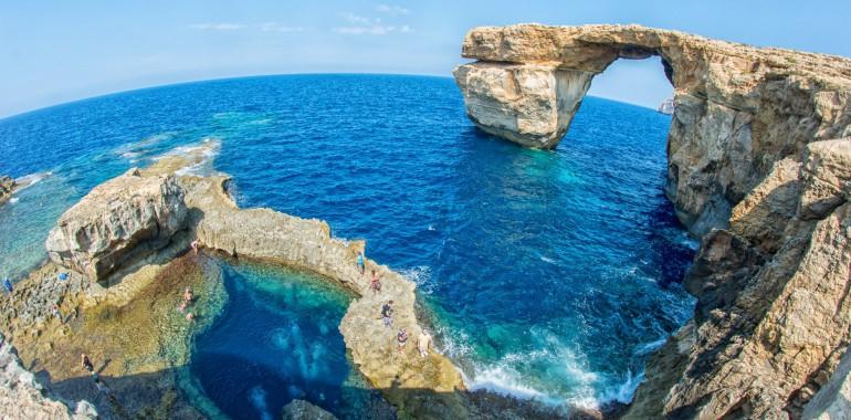 cours anglais voyage langue plage malte