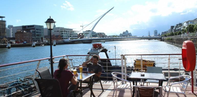river liffey dublin city voyage langue sejour linguistique