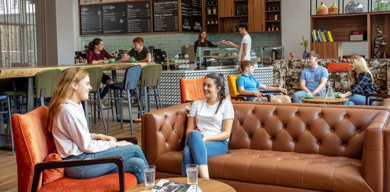 cafe dans la residence liv student dublin
