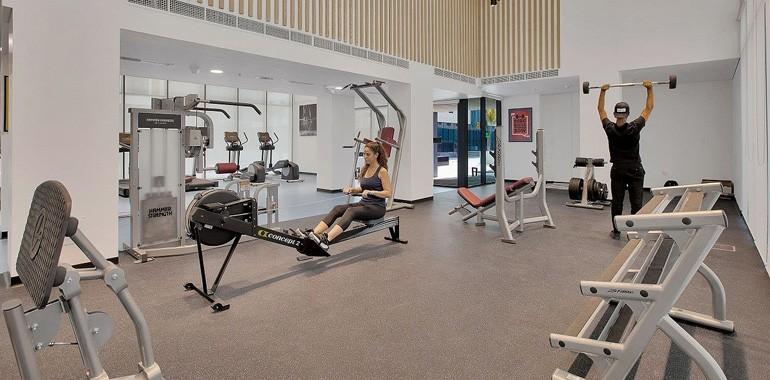 residence the myriad dubai salle de sport