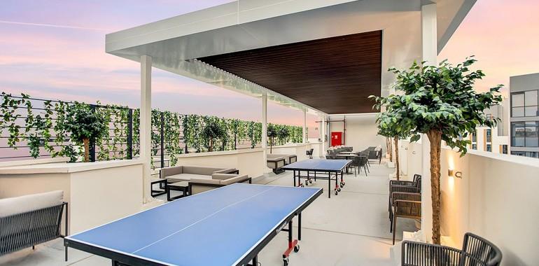 residence the myriad dubai terrasse exterieure