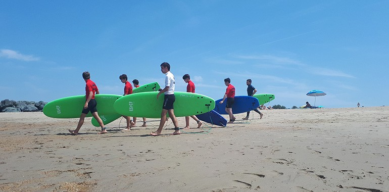 summer camp a biarritz anglais surf